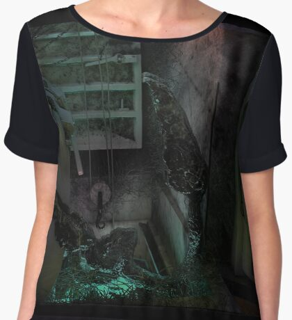 Creature in the dark Women's Chiffon Top