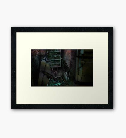 Creature in the dark Framed Print