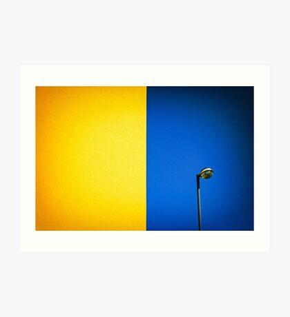 Half yellow Half blue Art Print