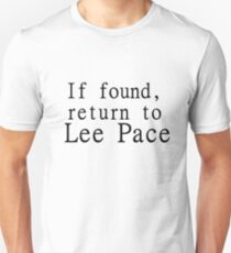 If found, return to Lee Pace Unisex T-Shirt