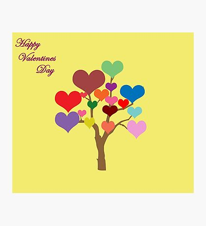Tree of Hearts (Happy Valentines) Photographic Print