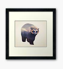Owlbear in Mountains Framed Print