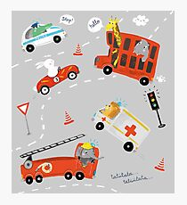 funny cars for kids Photographic Print