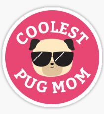 Pegatina Coolest Pug Mom