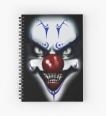 Scary Clown Spiral Notebook