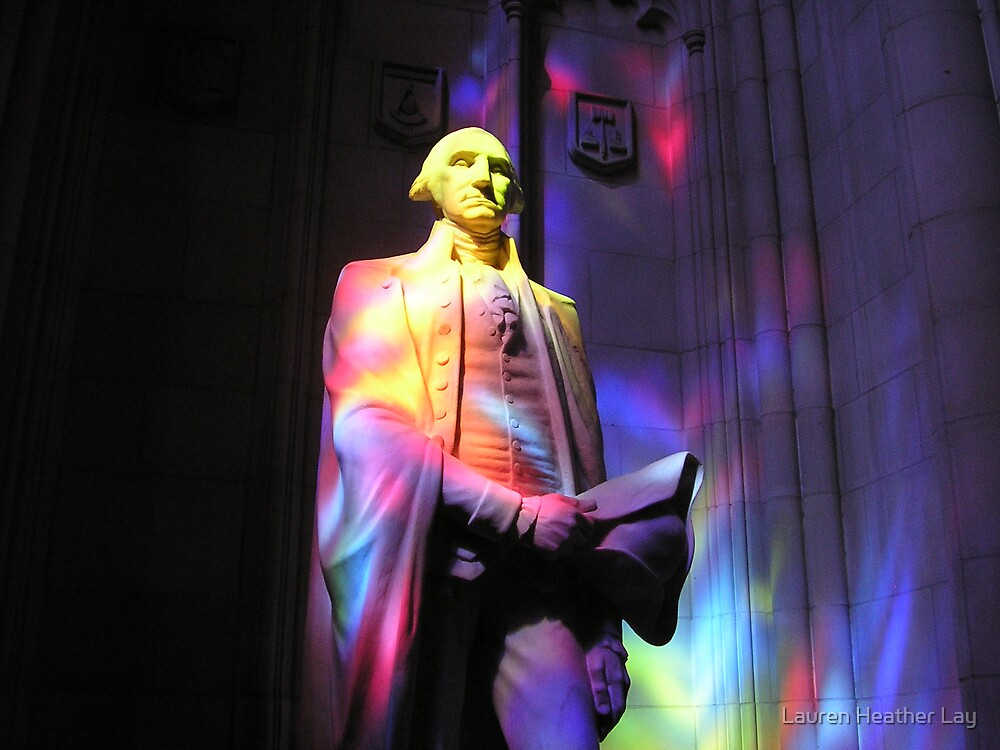 George Washington in Stained Glass Hues by Lauren Heather Lay