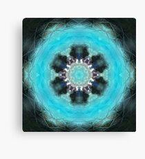 Blue Water Circle Canvas Print