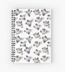 Brieftauben - Racing Pigeon - Taube - Dove - Muster - Pattern Spiral Notebook