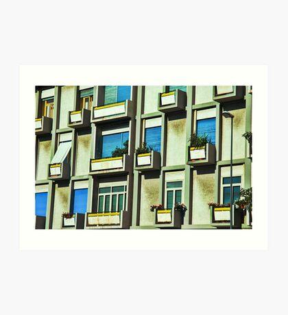 City balconies Art Print