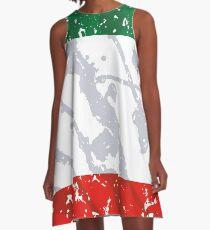 Italy grunge vintage flag A-Line Dress