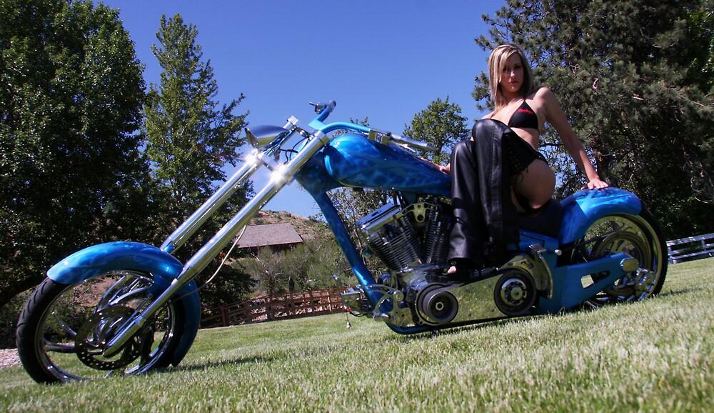 Jerrika-Blue Chopper by IanPharesPhoto