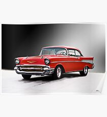 1957 Chevrolet Bel Air Two-Door Hardtop II Poster
