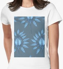 abstract nature textile pattern blue T-Shirt