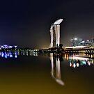 Singapore Marina Panoramic. by Peter Doré