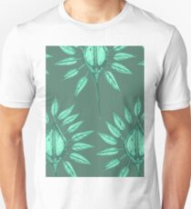 abstract nature textile pattern green T-Shirt