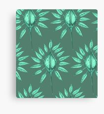 abstract nature textile pattern green Canvas Print