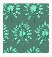 abstract nature textile pattern green Photographic Print