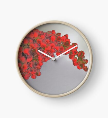Sumac Berries Taking a Break II Clock