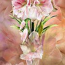 Amaryllis In Amaryllis Vase by Carol  Cavalaris