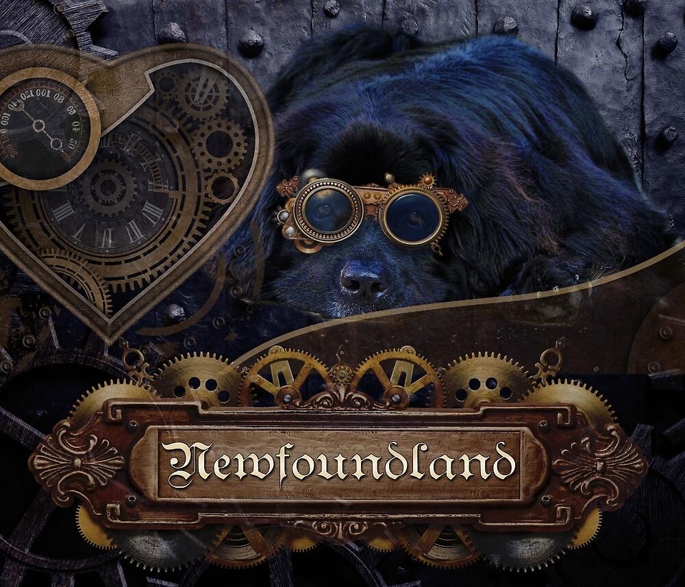 Steampunk Newfie by Christine Mullis