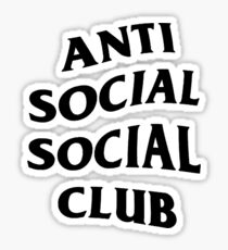 Anti Social Social Club Sticker