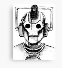 Cyberman Watercolour Canvas Print