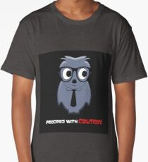 Proceed with Caution Cartoon Long T-Shirt