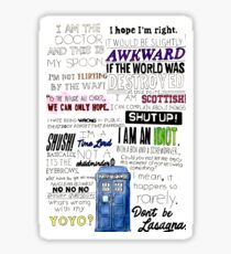 Doctor Who - 12th Doctor Quotes Sticker