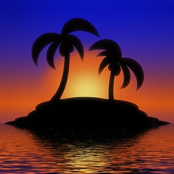 Palm Tree Sunset by Gravityx9