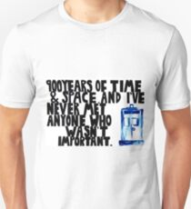 Doctor Who - 11th Doctor Quote. T-Shirt