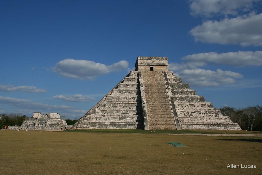 The Pyramid at Chichen Itza by Allen Lucas