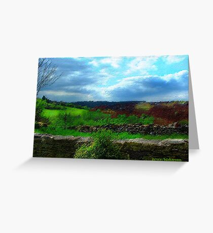 Farmer's Fence at Westley Greeting Card