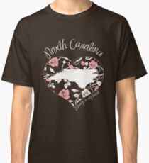 North Carolina - Always In My Heart (Pastel Color Version) Classic T-Shirt