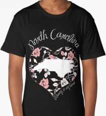 North Carolina - Always In My Heart (Pastel Color Version) Long T-Shirt