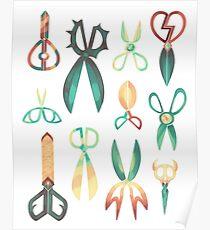 Dimensional Scissors Poster