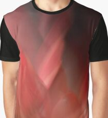 Fleur Blur-Abstract Red Leaves Photo Graphic T-Shirt