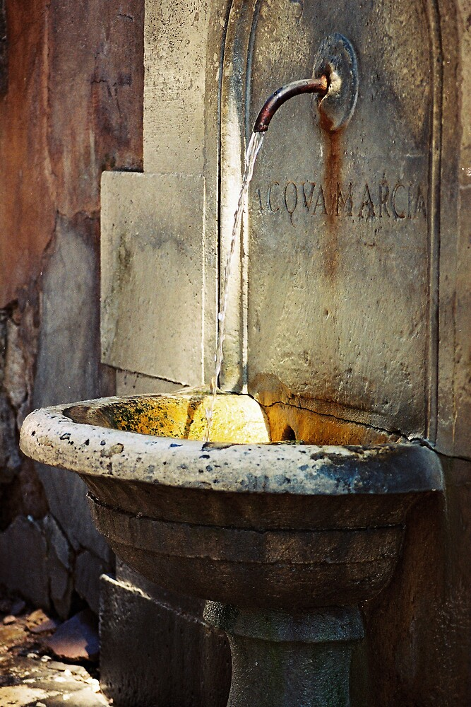 Roman Water Fountain by Kate Powick