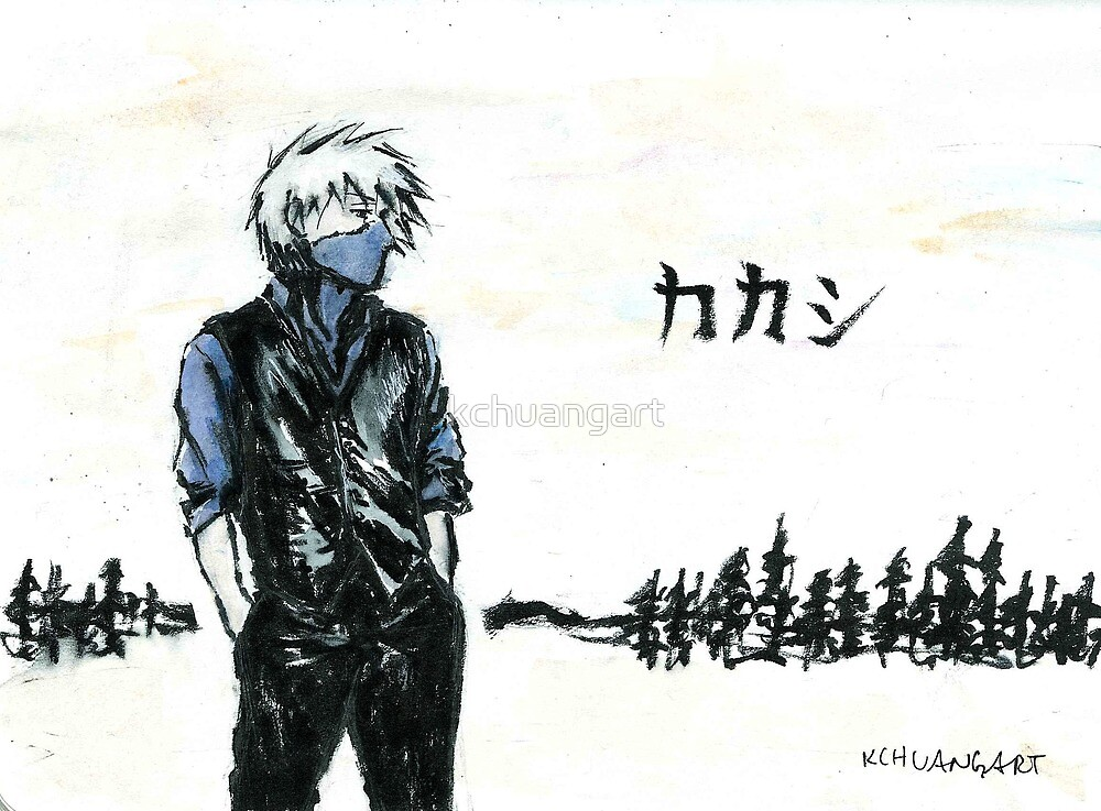 Ninja sensei in brushpen by kchuangart