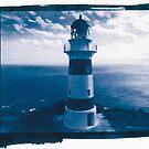 Cape Palliser Lighthouse Blueprint. by VanOostrum