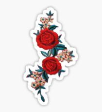 Rose and Flowers Patch Sticker