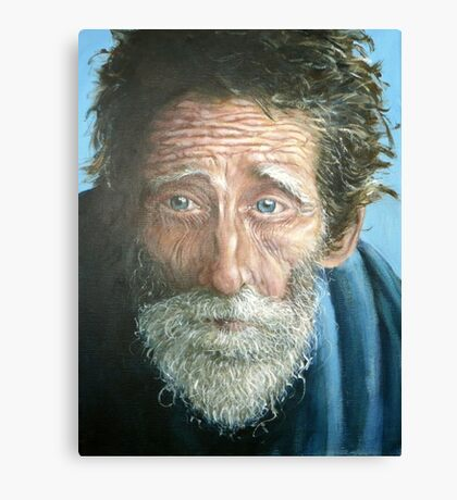 Man with the world in his eyes Canvas Print