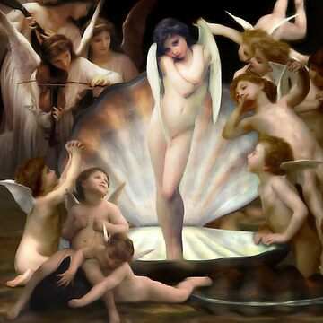 Bouguereau's Angels Surround Cupid   by Gravityx9