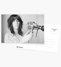 Patti Smith mit einer Videokamera Postkarten