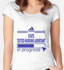 STATE TESTED NURSING ASSISTANT Women's Fitted Scoop T-Shirt