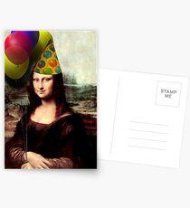 Postales Mona Lisa Cumpleaños