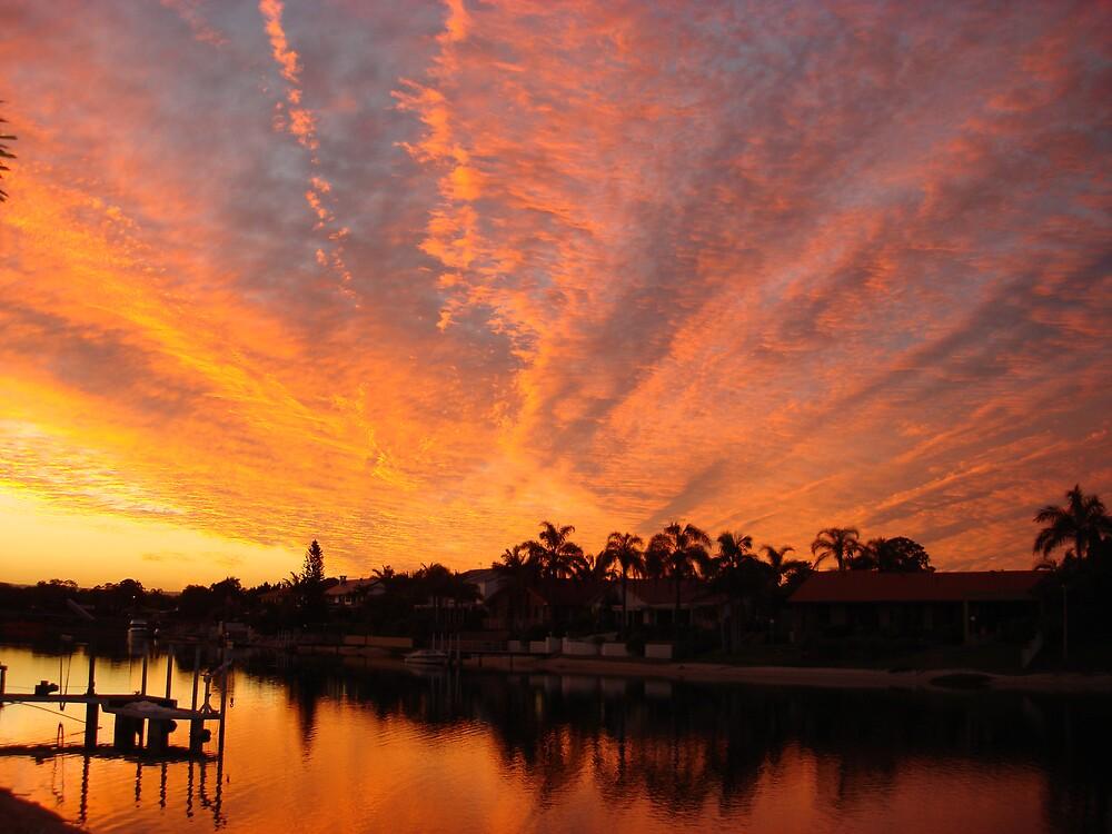 water sunset  by shanus