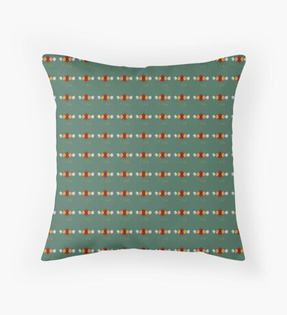 Canal Flowers Pattern  Throw Pillow