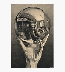 ESCHER REFLEKTIERTER BALL Fotodruck