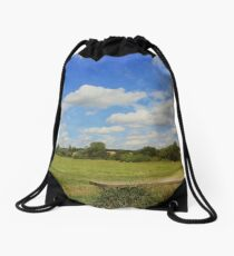 Sit and Enjoy The Countryside Drawstring Bag