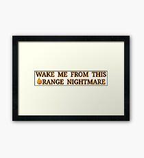 Orange Nightmare Bumper Mode Framed Print